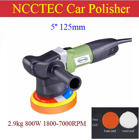 5 Electric Hand Held Car Polisher Buffer Sander 125mm Variable 6 Sd