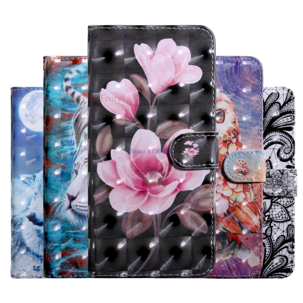 Flip Case For Xiaomi Mi Max 2 Max2 Wallet Stand Card Slot 3D Painted Phone Leather Cover For Xiaomi Max2 MDE40 MDT4 6.4 inch Bag(China)