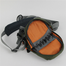 Fly Fishing Chest Waist Pack Bag Lightweight Comfortable Adjustable Compact Bag for Fishermen 2 Layers Army Green