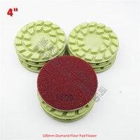 9pcs 4 Flower Diamond Floor Renew Pads 1500 Wet Or Dry Working Diam100mm Granite Marble Resin