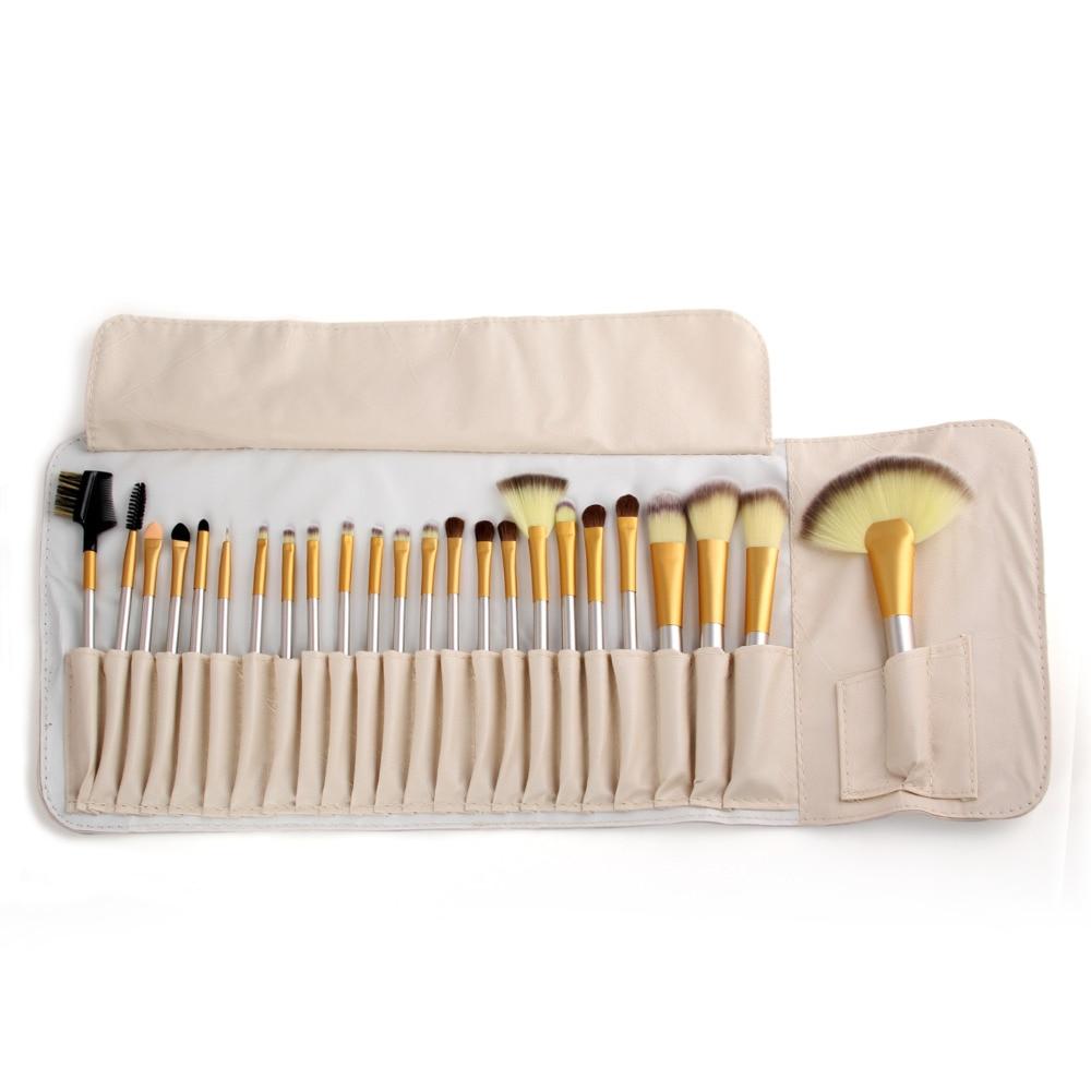 Vander 24pcs Luxury Professional Makeup Brushes Set Cosmetic Toiletry Kits foundation/powder/concealer/blending Champagne