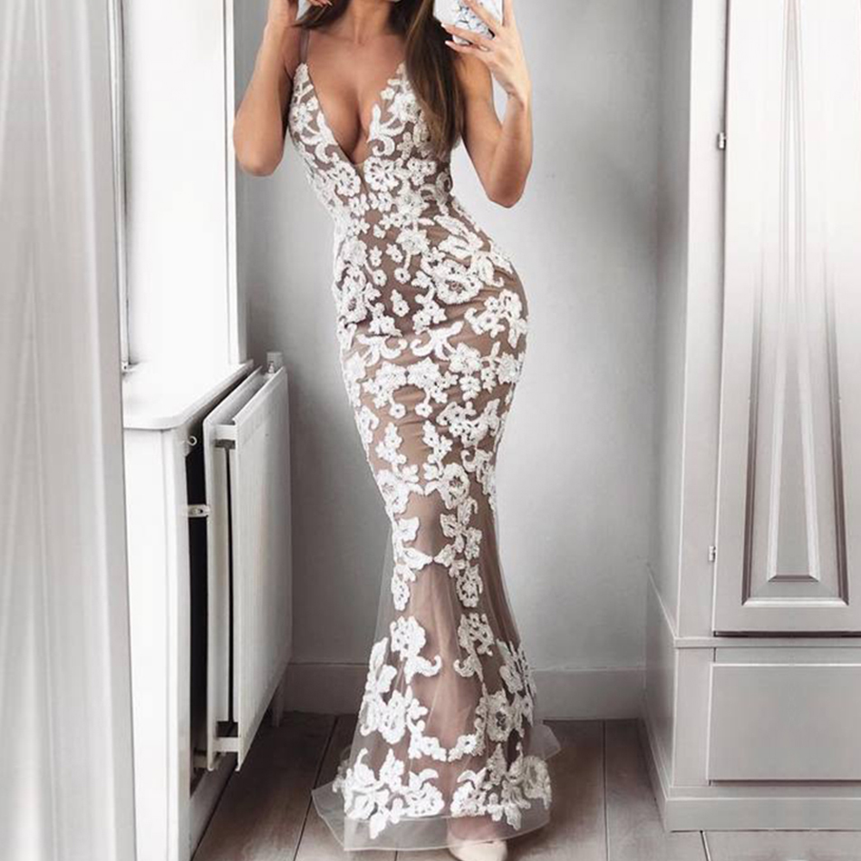 Adyce Sexy Women Summer Bandage Dresses Vestidos Verano 2019 Bodycon Lace Spaghetti Strap Dress Club Maxi Celebrity Party Dress