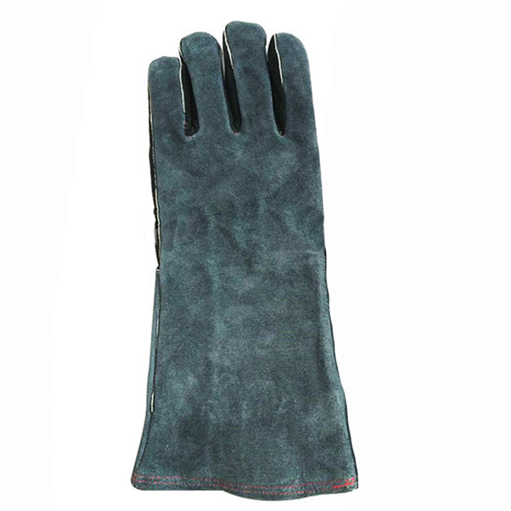 Inexpensive leather work gloves - High Quality 1 Pair Gloves Insulated Grip Cowhide Leather Work Gloves Reusable Safety Gardening Gloves