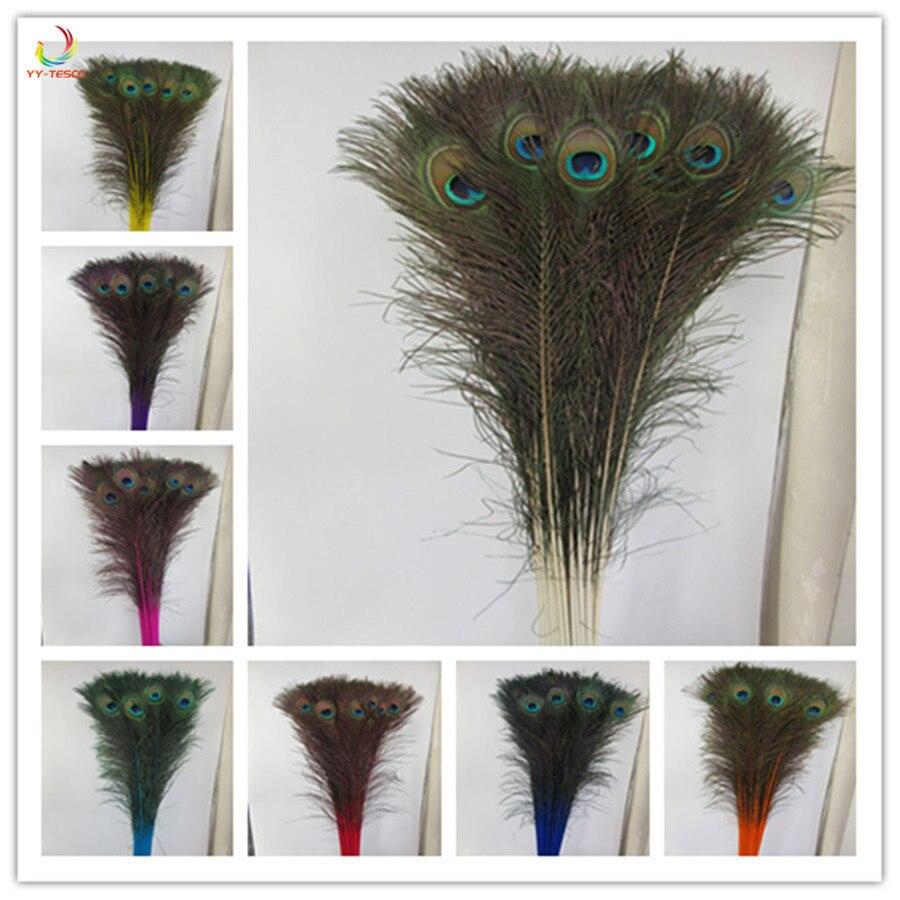 Qualité supérieure paon plumes 500 Pcs/lot longueur 72-80 CM belle plume de paon naturel bijoux diy Décoratif Déco raccords