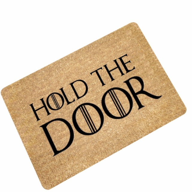 MDCT Funny Doormats Hold The Door Entrance Welcome Mats Rubber Back Doormats  Hallway Doorway Bathroom Rugs
