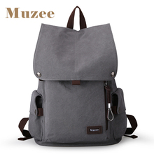 2017 Muzee New Male Canvas Backpack High Capacity Travel Bag Laptop 15 6 inch backpack Men