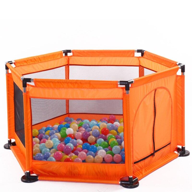 Bébé lit clôture maison enfants parc sécurité porte produits garde enfants coffre-fort pliable parcs jeu piscine de boules pour enfants cadeaux