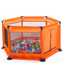 цена на Baby Bed Fence Home Kids playpen Safety Gate Products child Care Kids Safe Foldable Playpens Game Pool of Balls for Kids Gifts