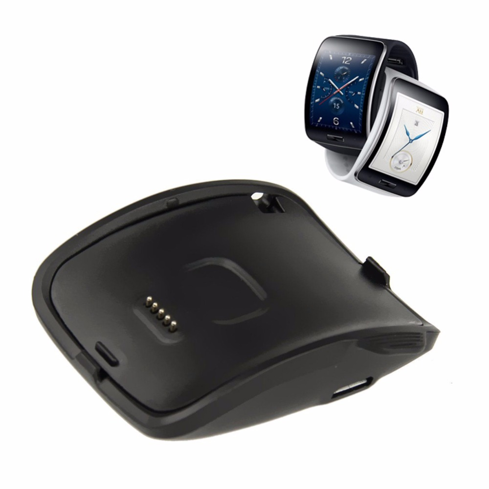 Black Portable Quick Charger With USB Cable 89cm <font><b>Charging</b></font> <font><b>Dock</b></font> Charger Cradle For <font><b>Samsung</b></font> Galaxy <font><b>Gear</b></font> <font><b>S</b></font> SM-R750 image