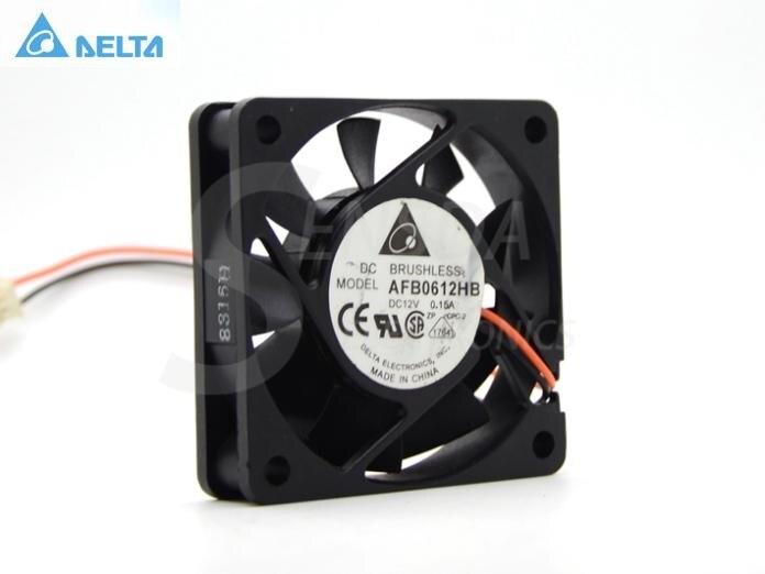 Delta Electronics AFB0612HB DC12V 0.15Server Soyutma fan 3 simli 60x60x15mm