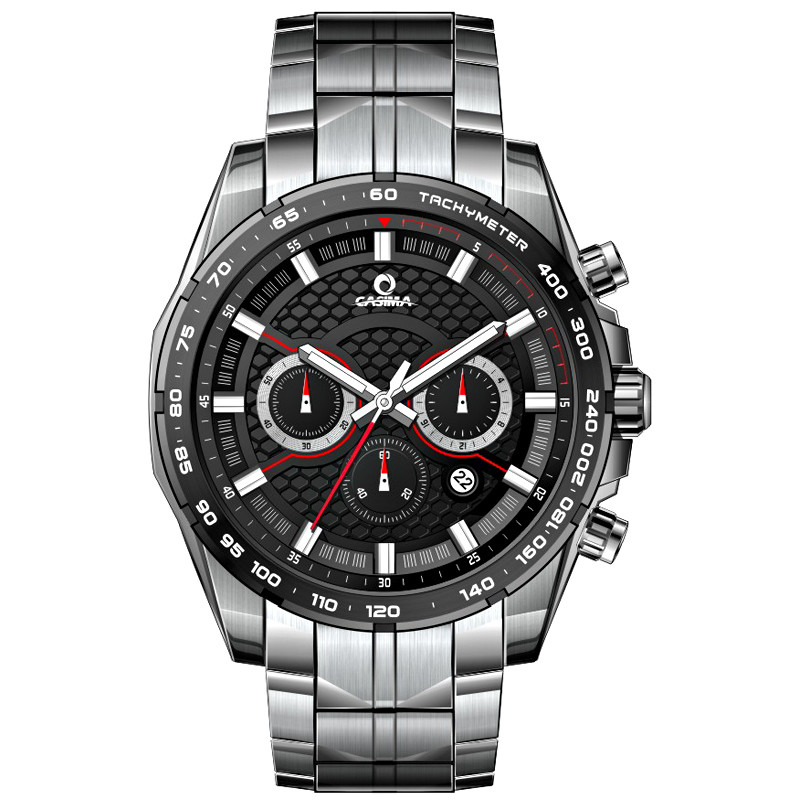 Fashion solar watches men Luxury Multi Function sport watch mens stainless steel waterproof 100M CASIMA 9906