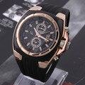 Часы V6 с большим круглым циферблатом  черные  силиконовые  кварцевые  аналоговый дизайн  мужские спортивные часы  спортивные наручные часы  3...