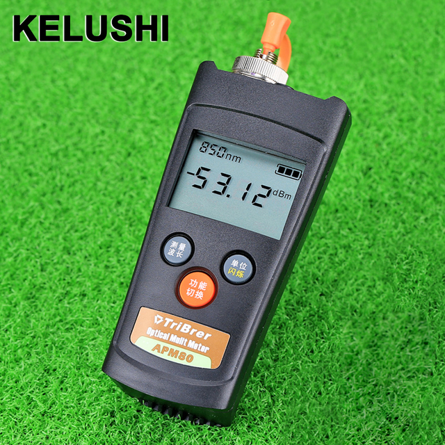 US $18 27 |KELUSHI APM 80T New Optical Fiber Cable Tester Fiber Optical  Power Meter with Function of Visual Fault Locator-in Fiber Optic Equipments