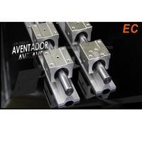 1pcs SBR16 linear guides L 1000mm Linear shaft rail support + 4pcs SBR16UU Linear bearing blocks