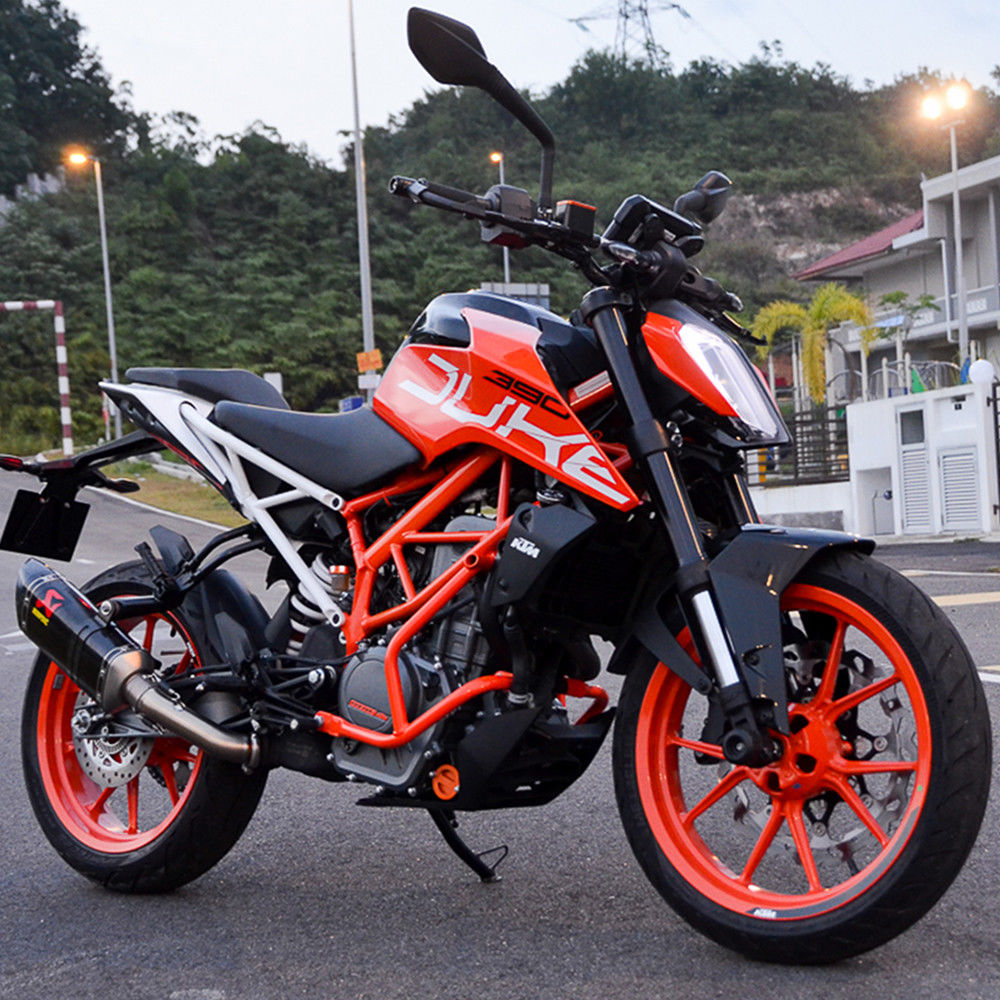 Lower Crash Bar Bumper Protector Protective Frame for 2017 2018 KTM Duke 250 390 Engine Guard Under Bumper Cover Orange in Covers Ornamental Mouldings from Automobiles Motorcycles