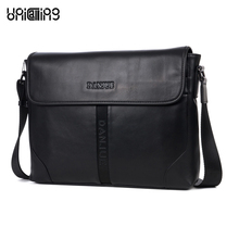 Brand premium quality horizontal cover top layer cowhide genuine leather men messenger bag casual business crossbody bag leather