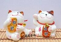 Mini Cat Ceramic Piggy Home Furnishing Ornaments Japanese Grocery Business Gifts Housewarming Creative Shop