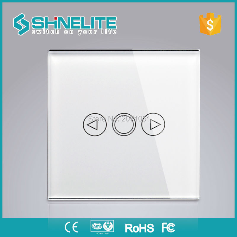 SHINELITE UK 1Gang Smart house dimmer switch,Touch screen glass panel wall light lamp Luxury dimmer not support broadlink switch smart home us black 1 gang touch switch screen wireless remote control wall light touch switch control with crystal glass panel