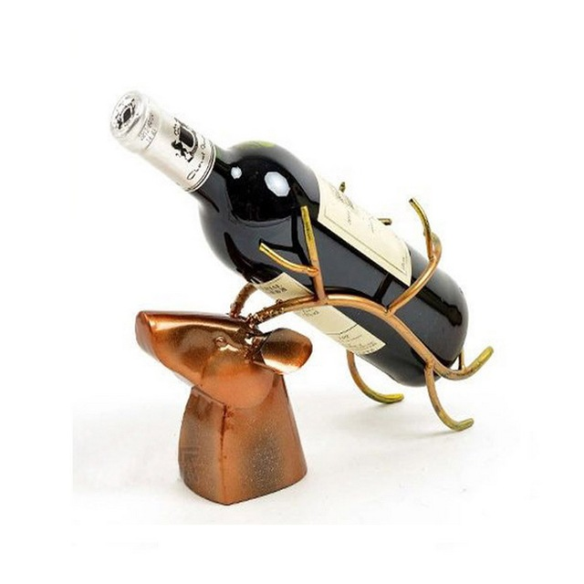 Wine Bottle Holders with Various Stylized Vintage Designs