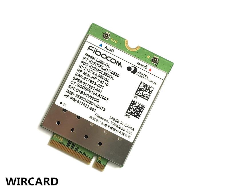 L850-GL HP LT4120 FDD-LTE TDD-LTE 4G Card  4G Module SPS#917823-001 For  430 440 450 G5 Notebook PC
