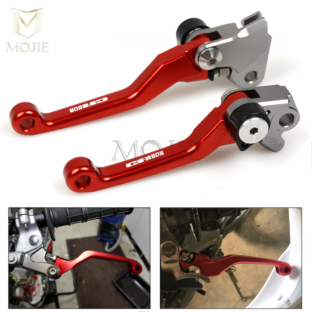 Pour Honda CR80 CR85 CR125 CR250 CRF150 R CRF230 F CRF250 L R X CRF450 R X CRM250 R SL XR 230 CNC Pivot Frein D'embrayage Leviers Dirt