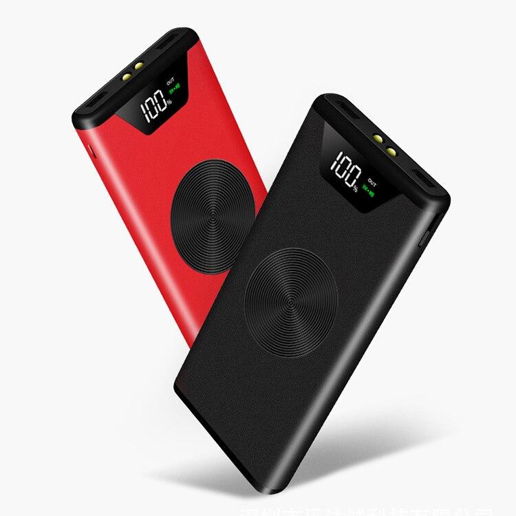 Heißer 18650 30000 mah für iphone X 8 QI Drahtlose Ladegerät Power Bank Dual USB mit Digital Display Externe Batterie power