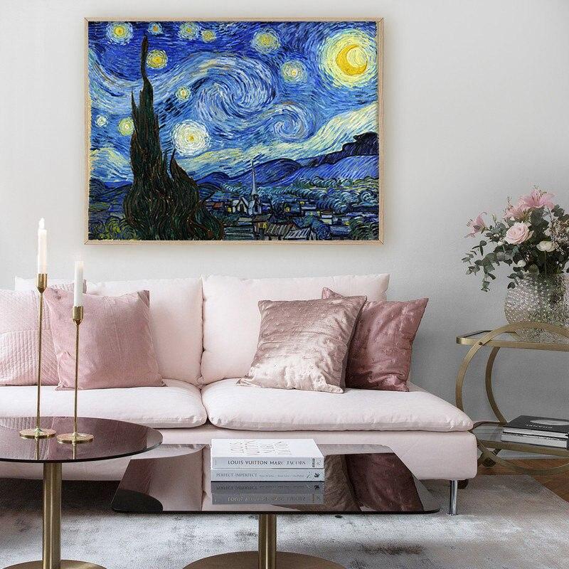 HTB1XBb6ThTpK1RjSZFMq6zG VXaI Van Gogh Starry Night Abstract Landscape Canvas Poster Famous Classic Wall Art Print Decorative Picture Modern Living Room Decor