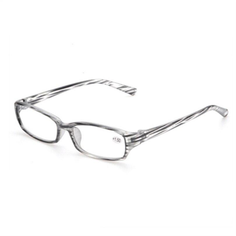 High Quality Reading Glasses Transparent PC Stripe Frame Spectacles 2.5 3.0 Resin Lens Reading Glass Men Women