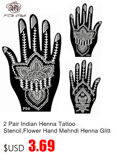 10 Pcs Indian Mehndi Henna Tattoo Stensil Template Airbrush Renda