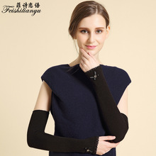 Autumn cotton armor sets of anti-slip leak refers to the word knot love sleeve sets of bow knives half finger gloves