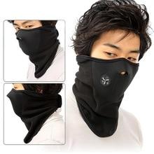 Bicyle Cycling Motorcycle Winter Sports Ski Snowboard Hood Wind Stopper Face Mask Headwear Thermal Fleece Black недорго, оригинальная цена