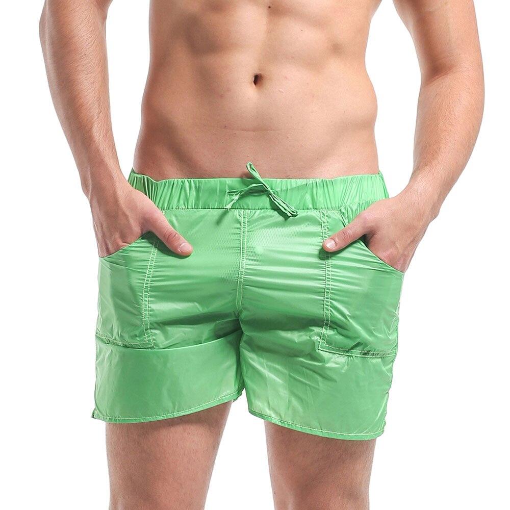 Men's Solid Short Super Thin Transparency Board shorts Beachwear Holiday Sports Surfing & Beach
