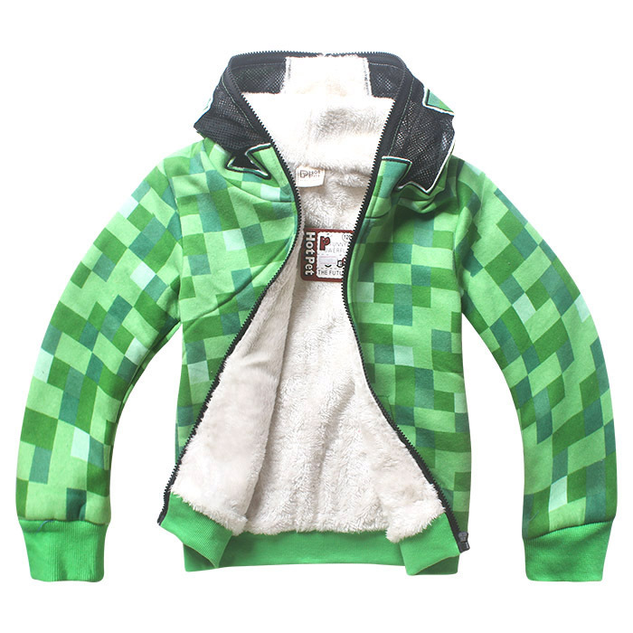 winter Outwear Minecraft Cartoon Children's Clothes Sweatshirts Baby Boys Girls Long Sleeve T Shirts Boyo Choses Christmas Shirt