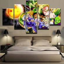 5 Pieces/Set Cartoon Goku Dragon Ball Characters Poster Modern Home Wall Decor Canvas Picture Art HD Print Painting Canvas Art(China)
