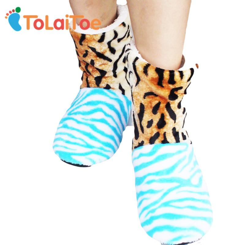 купить ToLaiToe Free Shipping Home Soft Plush Home Shoes Slippers Coral Fleece Indoor Floor Socks , Indoor Slippers Winter Foot Warmer недорого