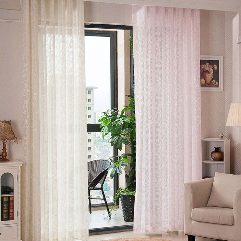 US $5.28 39% OFF|Luxus Stilvolle Gardinen Schlafzimmer Tüll Vorhang Fenster  Wohnzimmer Vorhang Jacquard gewebe Tür Balkon Klar Vorhänge 095-in ...