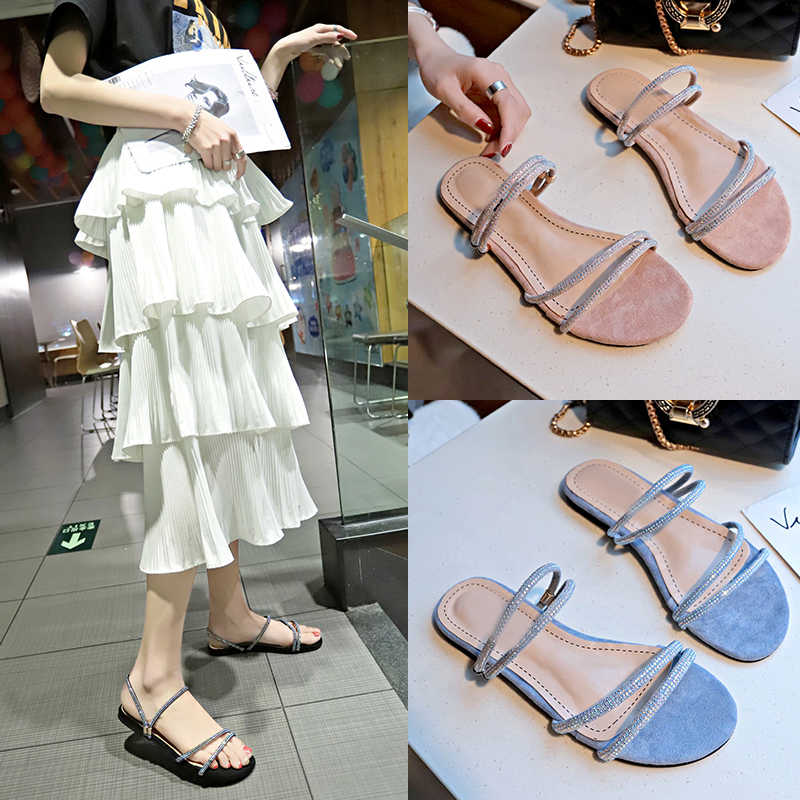 HEE GRAND Slides Summer Shoes Woman Slippers Fashion Sweet Ladies Shoes Solid Color Flats Casual Shoes Slip On Shoes XWT1721