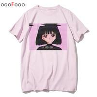Vaporwave Футболка модная грустная девушка ретро японское аниме Мужская футболка эстетические Топы Футболка мужская/wo для мужчин