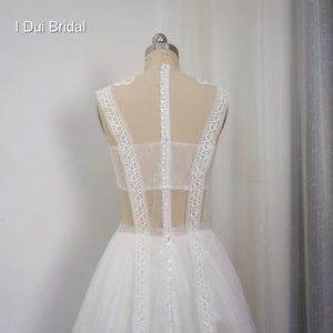 Image 4 - Lace Illusion Wedding Dresses Sexy New Style Real Photo Factory Custom Made Bridal Gown