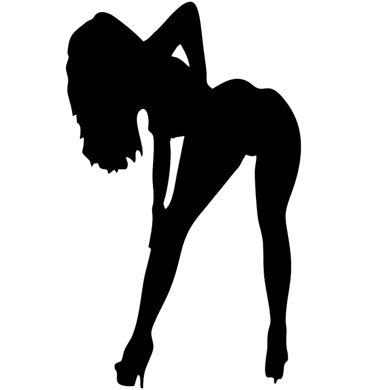 <font><b>18</b></font>*10.9cm <font><b>Sexy</b></font> <font><b>Girl</b></font> Sticker <font><b>Hot</b></font> Woman Pin Up ,Funny Car Bumper Window Vinyl Decal Truck Vinyl Hobby Car Bumper Sticker image