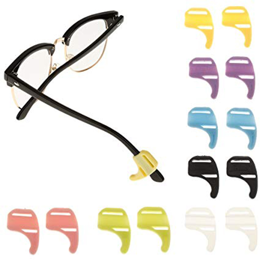 1 Pair Silicone Sunglasses Anti Slip Ear Surpporting Hooks Sports Eyeglasses Holders Parts