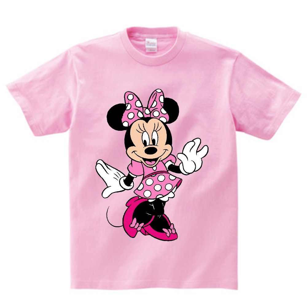 deadbc76ed Girls Lovely Minnie mouse Cartoon T shirt kids summer Short Sleeves ...