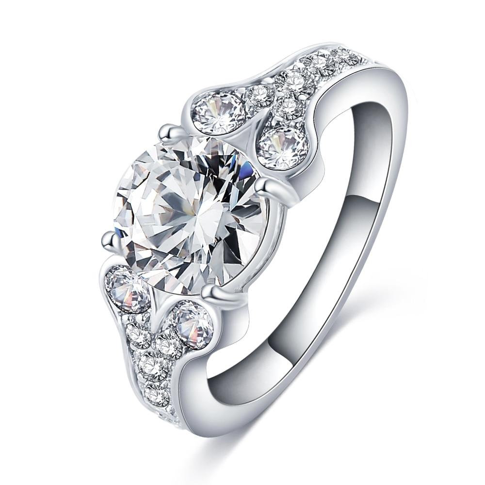 Hot Sale Women Wedding Rhinestones Rings New Gift Female