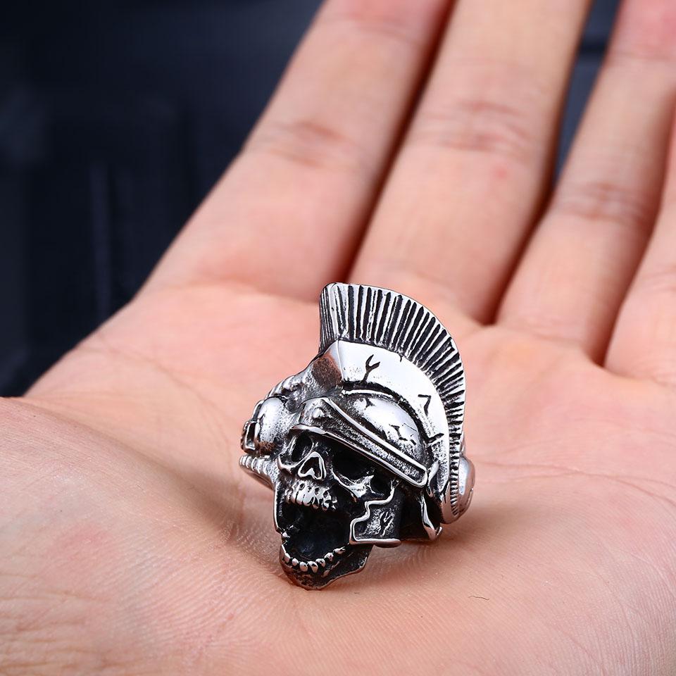 Samurai Silver Skull Ring - Pricole