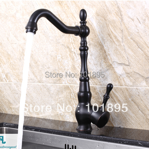 L15691 - Luxury Deck Mounted Black Color Brass Material Kitchen Sink FaucetL15691 - Luxury Deck Mounted Black Color Brass Material Kitchen Sink Faucet