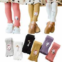 V-TREE crianças leggings bordado pantyhose para meninas doces cor crianças calças 2-8 t bebê estudante leggings