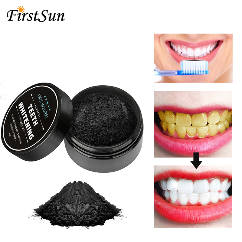Active Carbon Teeth Whitening Powder Natural Cleaning Stain Removing Oral Care Physical Whitener Toothpaste Coconut Oral Hygiene