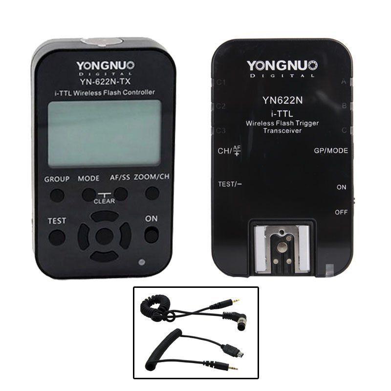 Yongnuo YN-622N-TX Wireless TTL Flash Controller Trigger & 1PC YN-622N for Nikon yongnuo yn685 yn 685 беспроводной доступ в эти speedlite флэш построить в ttl приемник работает с yn622c yn622ii c yn622c tx yn560iv yn560 tx