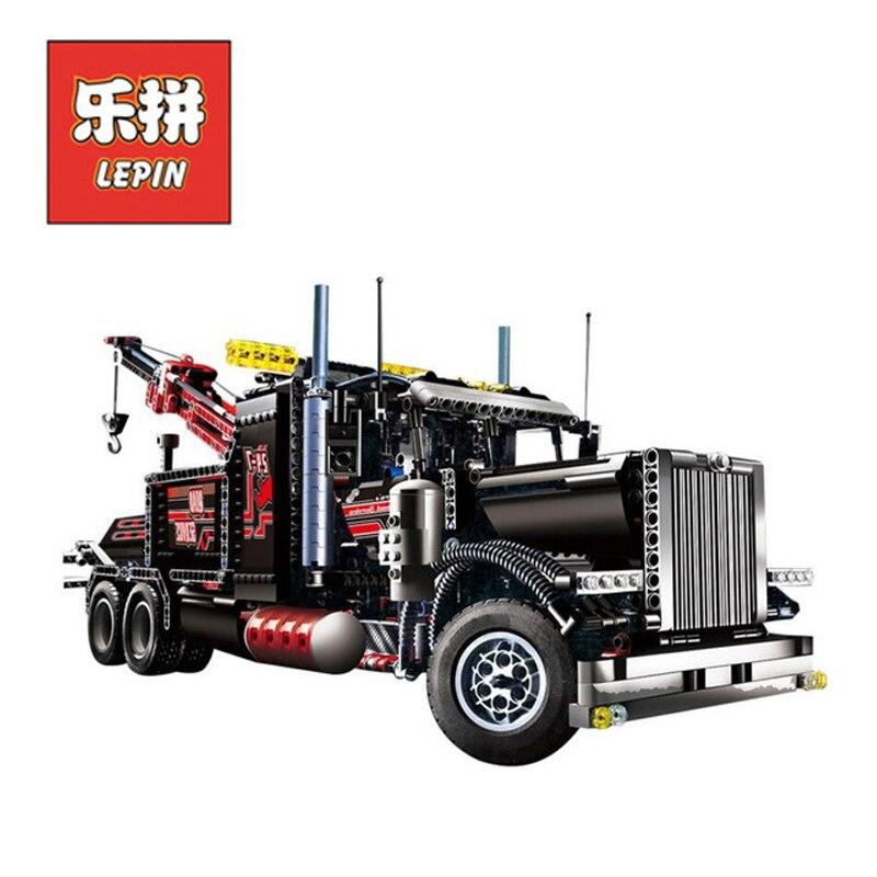 In Stock Lepin Sets 20020 1877Pcs Technic Figures Pneumat Tow Truck Model Building Kits Blocks Bricks Educational Kids Toys 8285 1877pcs techinic 2in1 tow truck 20020