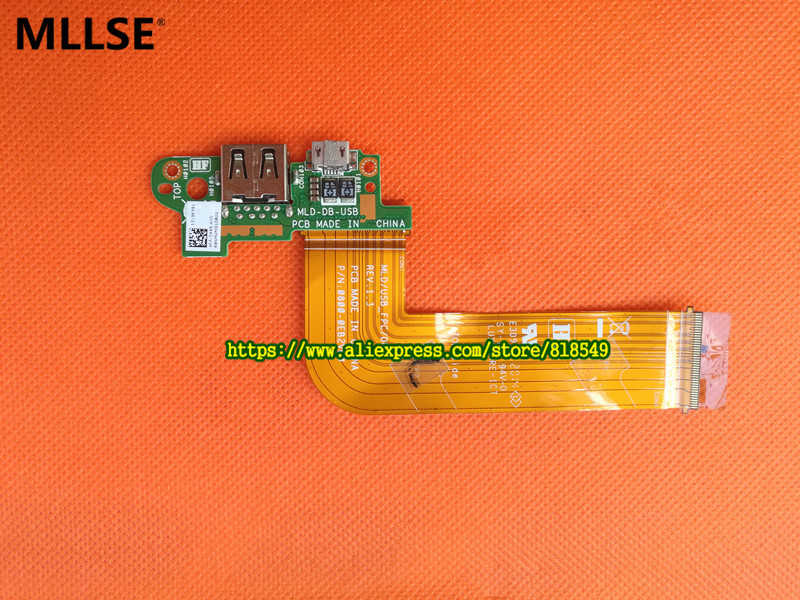 MLD-DB-USB Charge port PCB Board with cable Fit FOR DELL VENUE 11 PRO T06G 5130 Tablet usb charge dock sub pcb s010 sub